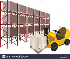Powered Industrial Forklift, Fork Heavy Machine, Fork Truck Or Lift ...