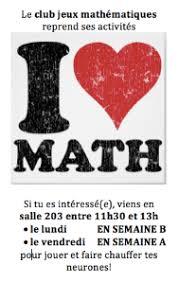 le club maths reprend actualités publiques collège jean de