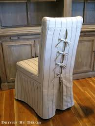 Do It Yourself Chair Covers Tie Back And Corseted Slipcovers A Fun Way To Dress Up