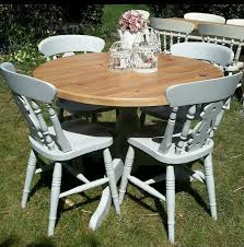 Shabby Chic Dining Room Table by Outstanding Round Shabby Chic Dining Table And Chairs 94 With