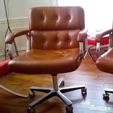 fauteuil de bureau cuir marron fauteuil vintage bureau camel