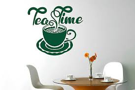 wandtattoo teatime zeit wandaufkleber esszimmer sticker