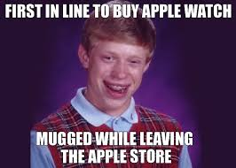 First In Line For Buy A Watch Mugged While Leaving The Apple Store