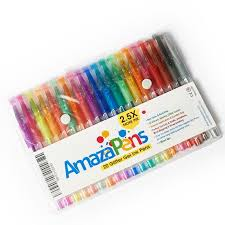 Amazon AmazaPens Gel Pens 20 Pack Super Glitter