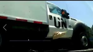 100 Nations Truck EXPOSED UN Medic S Caught Trying To Hide Logo From Public View
