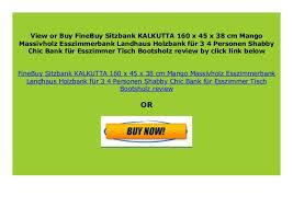 best buy finebuy sitzbank kalkutta 160 x 45 x 38 cm mango