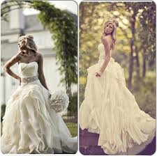 Elegant Country Wedding Dresses For Outdoor Western Vintage Strapless Dress With Crystal