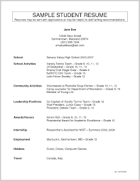 Grade 9 Resume Example 381667 Cool High School Activities Template With
