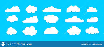 100 Flat Cloud Icon Set Stock Vector Illustration Of Banner