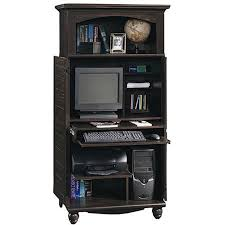 Sauder Harbor View Computer Desk Salt Oak by Sauder Harbor View Computer Armoire Antiqued Black Paint