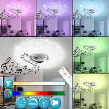 etc shop deckenleuchte design led decken leuchte sternen inkl rgb farbwechsler bluetooth lautsprecher deckenspot fernbedienung le kaufen