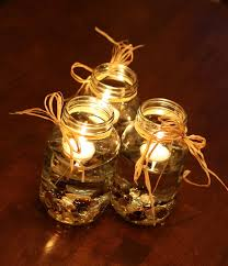 Rustic Themed Mason Jar Candles