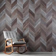 Herringbone Peel Stick Wood Look Wall Variplanks Inhabit