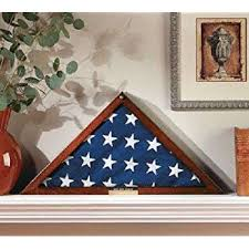 Flag Display Case Veterans With Personalized Brass Plaque