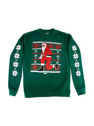 nas releases a collection of kneeling santa christmas sweaters