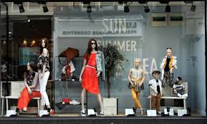 The Window Display Of A Next Clothing Store