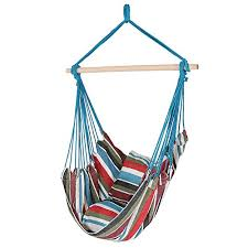 Hanging Chair Air Porch Swing Hammock Rope Seat 2 Cushions Yard Garden NEW