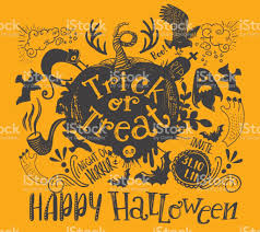 Horizontal Halloween Lettering Quote Royalty Free Stock Vector Art
