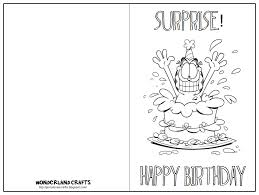 Birthday Cards To Print Out These Printable Are Great For Kids Have Them Color And