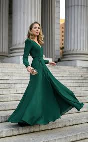 What to Wear to a Black Tie Wedding Emerald green long sleeve
