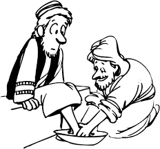 Jesus Washes The Disciples Coloring Page Printable