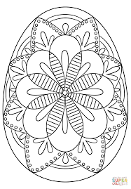 Egg Coloring Pages Intricate Easter Page Free Printable To Print