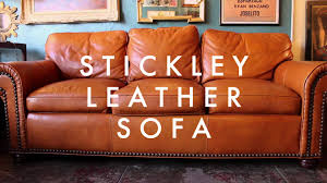 stickley leather sofa living room leather furniture thesofa