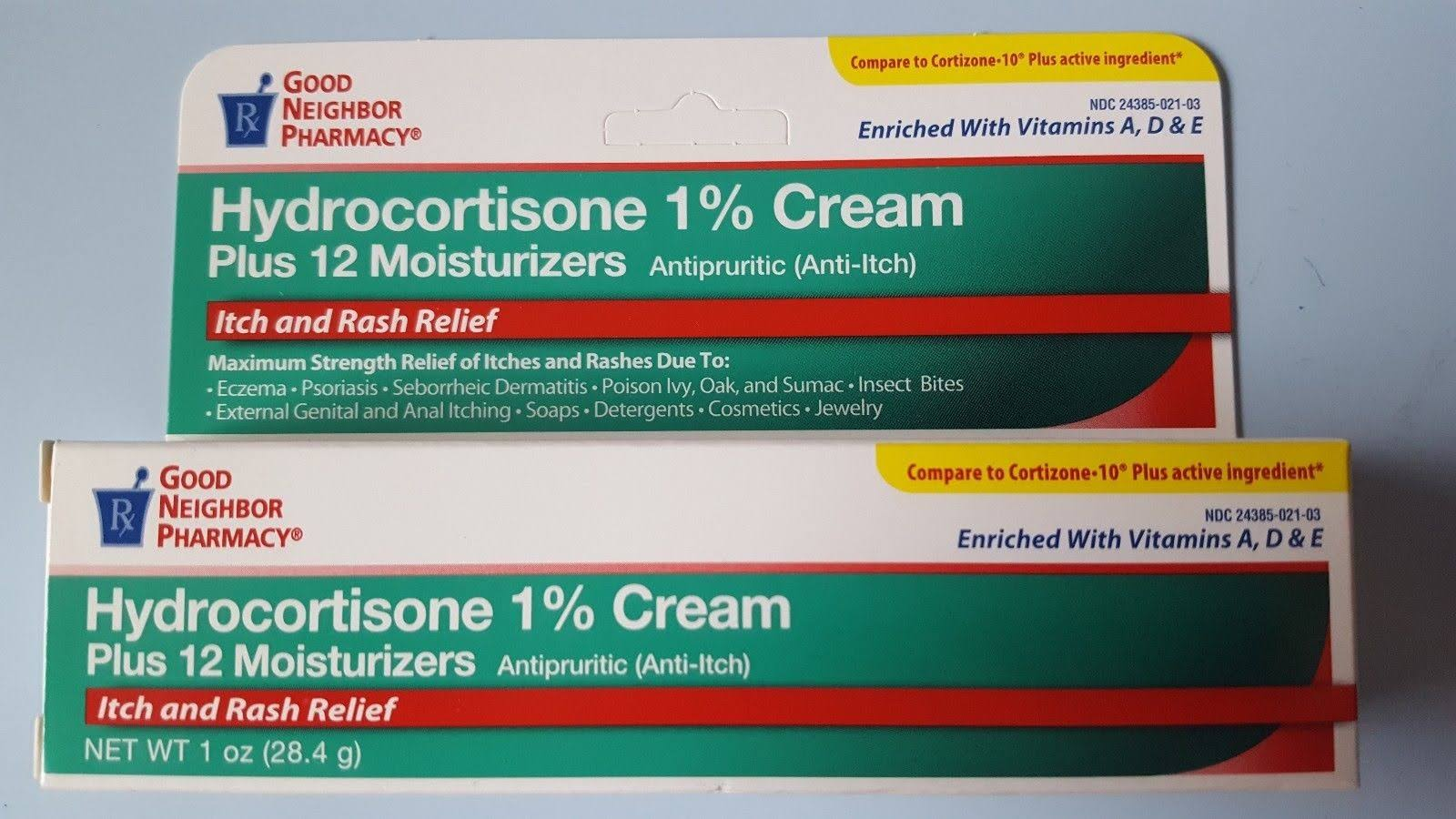 GNP Anti-Itch Cream Hydrocortisone 1% Plus 12 Moisturizer 1oz