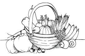 Harvest Fruit And Vegetables Coloring Pages Veg Free Printable Vegetable Full Size