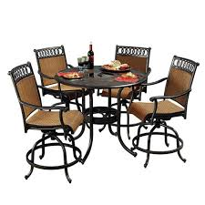 5 Piece Bar Height Patio Dining Set by Elegant Patio High Dining Set Cool Bar Height Outdoor Dining Set