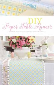 Paper Table Runner DIY Easy Craft Project