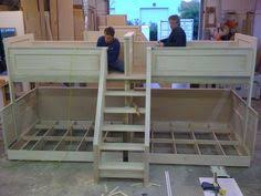 Double Twin Loft Bed Plans by Pair Of Quad Bunk Beds Img 0401 Jpg Large Families Someday