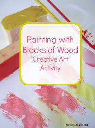Painting With Blocks Of Wood