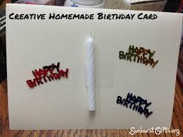 Creative Homemade Birthday Card Thoughtful Gift Idea