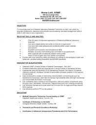Collection Solutions Mechanic Resume Objective Statement Stunning Medical Resumes Objectives For Writing