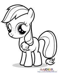 Applejack My Little Pony Colouring Pages