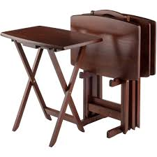 Cosco Mahogany Folding Table And Chairs by Tv Tray Tables Walmart Com
