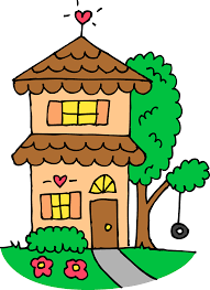Cute Two Story House Clip Art