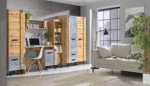 wohnzimmer komplett set d atule 5 teilig farbe eiche grau
