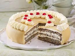 mohn marzipan torte backen so geht s lecker