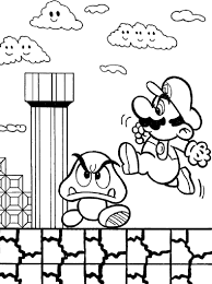 Super Mario Bros Game Coloring Page Boys Pages Video Games Free Online And Printable