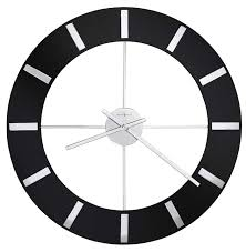 Howard Miller Onyx 625 602 Large Contemporary Wall Clock