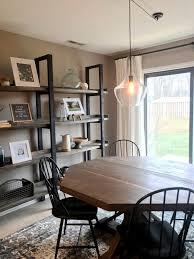 DIY Dining Room Custom Shelves