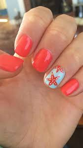 Summer Nail Art Valentines Tree Star Short
