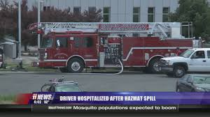 Truck Driver Taken To Hospital After HAZMAT Spill
