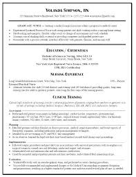Recent Graduate Resume Sample Nursing Samples For New Graduates Nurse Examples