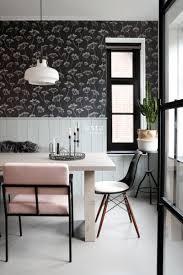 esszimmer tapete doldenblütler schwarz weiß 139105