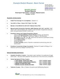 Resume Examples For Grade 9 Students Resumeexamples