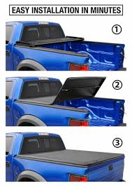 Tri-Fold Soft Tonneau Cover For 2005-2019 Nissan Frontier; 2009-2014 ...
