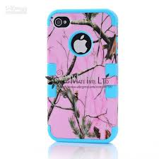 For Iphone 4 4s Defender Pink Camo Real Oak Tree Mossy Hybrid Hard